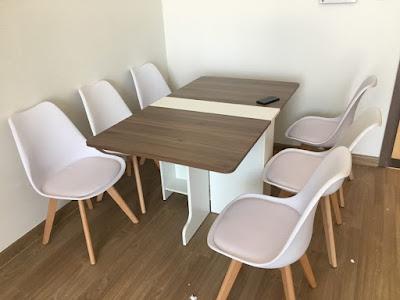3 mẫu bàn ăn thông minh tiết kiệm diện tích dành cho phòng ăn