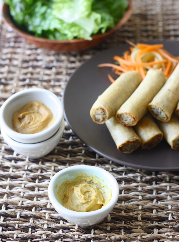 Spring rolls with Chinese Hot Mustard Dipping Sauce by SeasonWithSpice.com