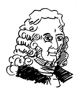 sketch portrait of J. P. Rameau (c) 2015 by David Borden