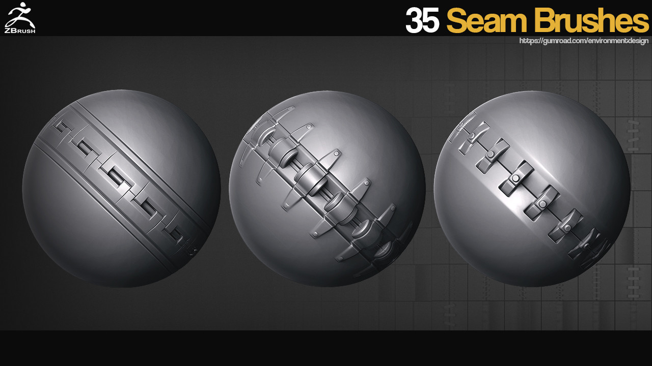 35 Seam Brushes for ZBrush | Computer Graphics Daily News