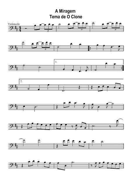 Miragem - Marcus Viana - Novela O Clone - Violoncelo - n.º 1024