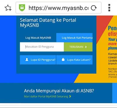 Cara Daftar Myasnb Portal Untuk Semak Maklumat Simpanan ASB Anda