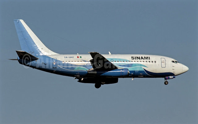 Boeing 737-200 XA-UHZ Global Air or Damojh Airlines While Inflight Before Crashed