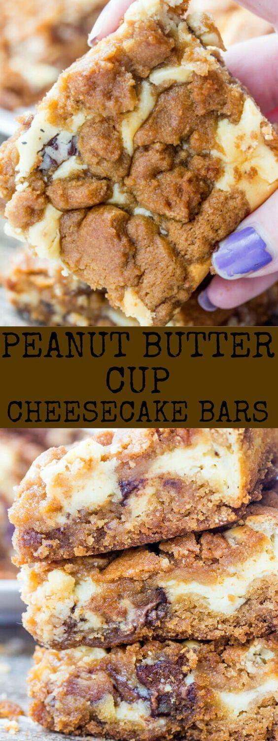 Peanut Butter Cup Cheesecake Bars Recipe