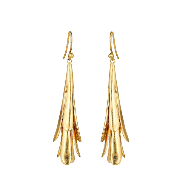 Gold Leaf Earring by Studio Tara available at Velvetcase.com - Rs 10,119