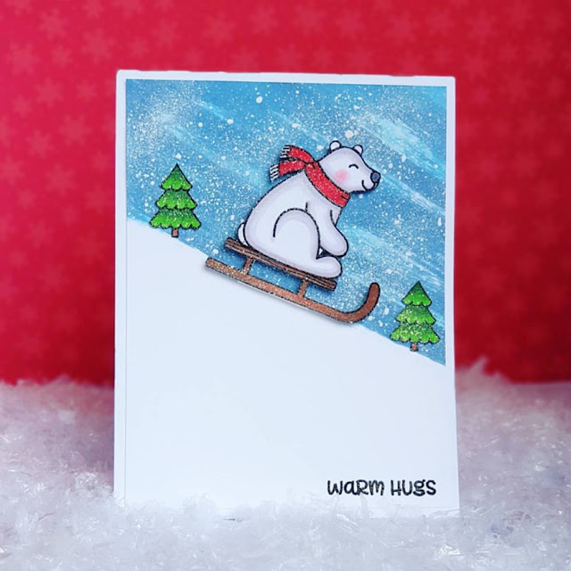 Sunny Studio Stamps: Playful Polar Bears Customer Card Share by Waleska Galindo