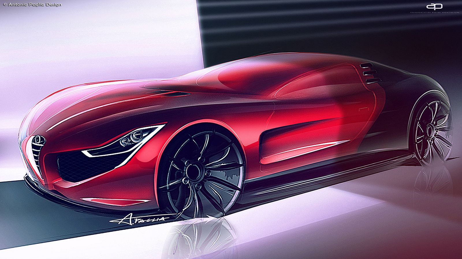 Alfa Romeo C18 Design Study Is A Futuristic 8C ...