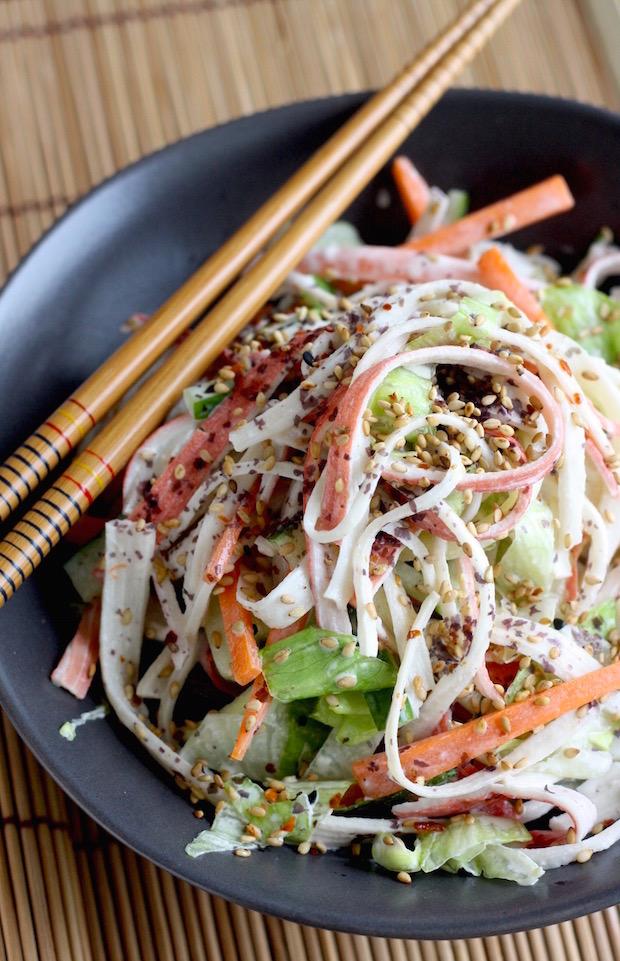 Kani Salad Japanese Crab Salad Season With Spice