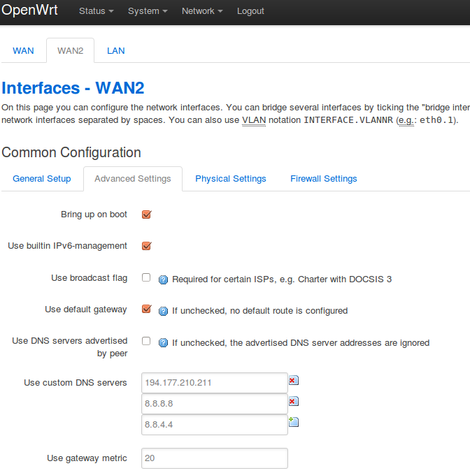 How To Setup custom DNS server in OpenWrt Chaos Calmer | BBB-Solutions