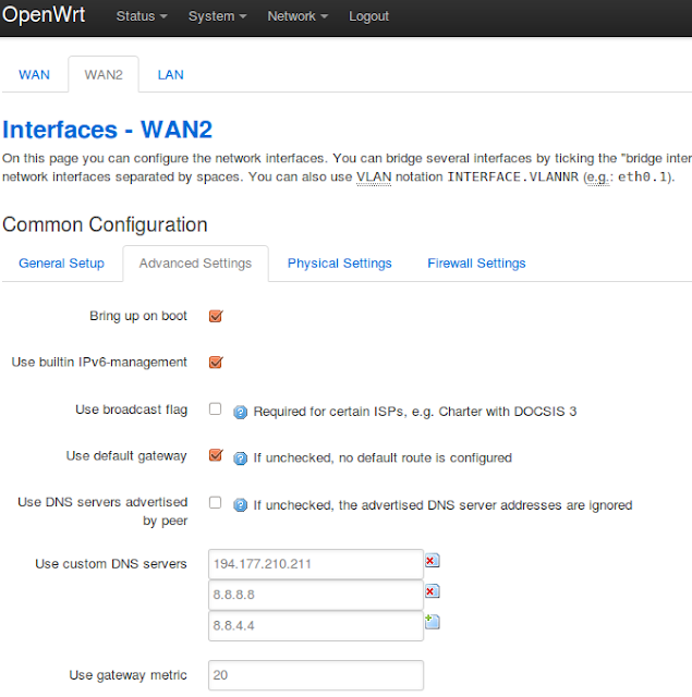 How To Setup custom DNS server in OpenWrt Chaos Calmer | BBB