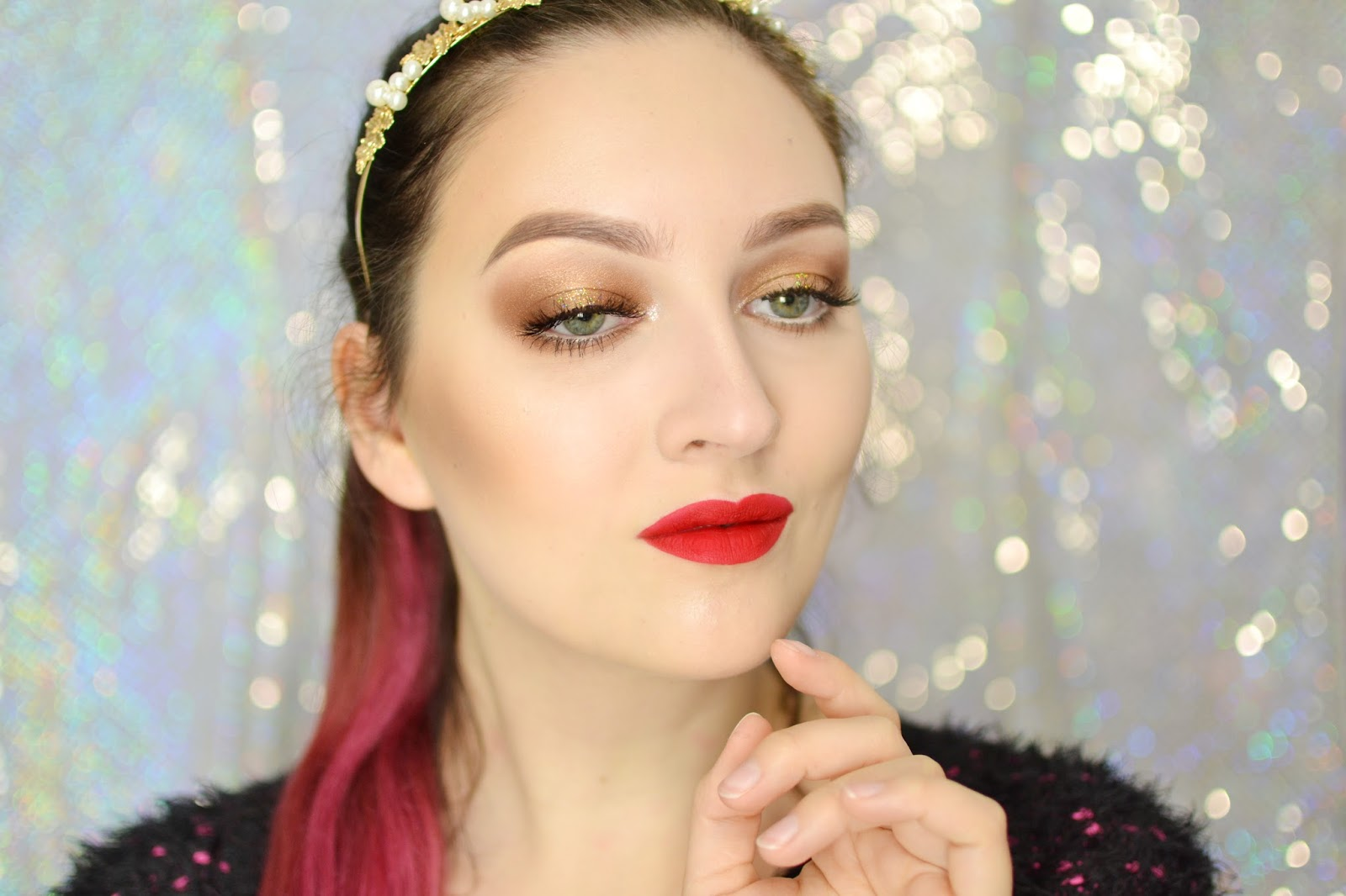 makijaż na święta tutorial
