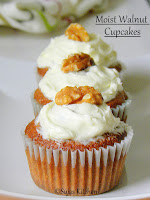 How to bake Moist Walnut Cupcakes, Moist walnut cupcakes,