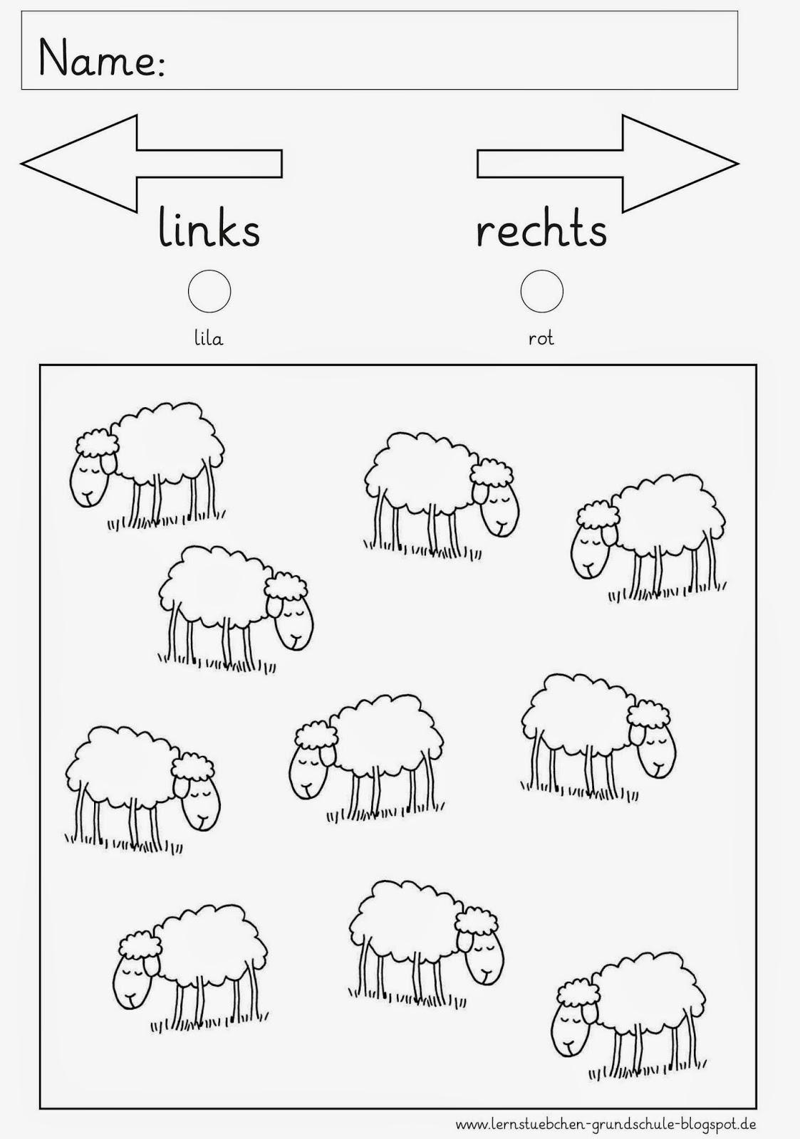 Lernstübchen: rechts und links