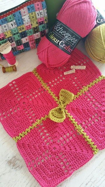 Gifted Blanket crochet pattern by Susan Carlson of Felted Button