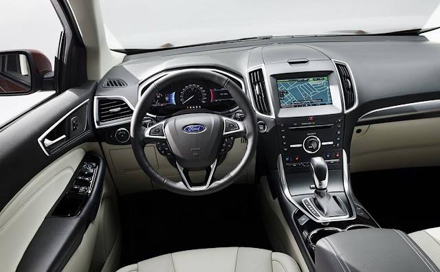 Novo Ford Edge 2017 - interior - painel
