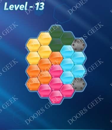 Block! Hexa Puzzle [Intermediate] Level 13 Solution, Cheats, Walkthrough for android, iphone, ipad, ipod