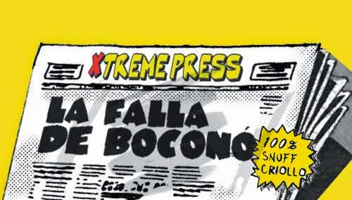 front pages cómic - Falla de Boconó Venezuela