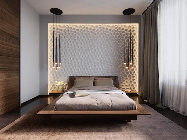 интерьер роскошной спальни