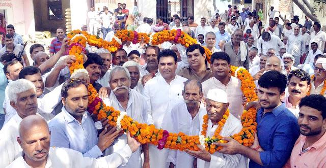 lalit-nagar-mla-tigaon-welcome-at-badoli-village-faridabad