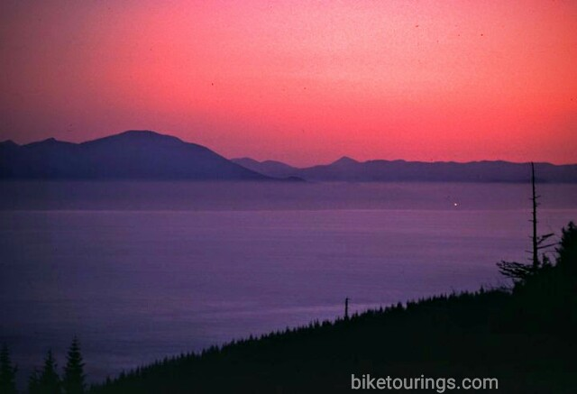 Picture of Strait of Juan de Fuca from Cape Flattery, Washington while mountain biking