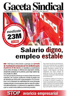Gaceta Sindical movilizaciones 23M.
