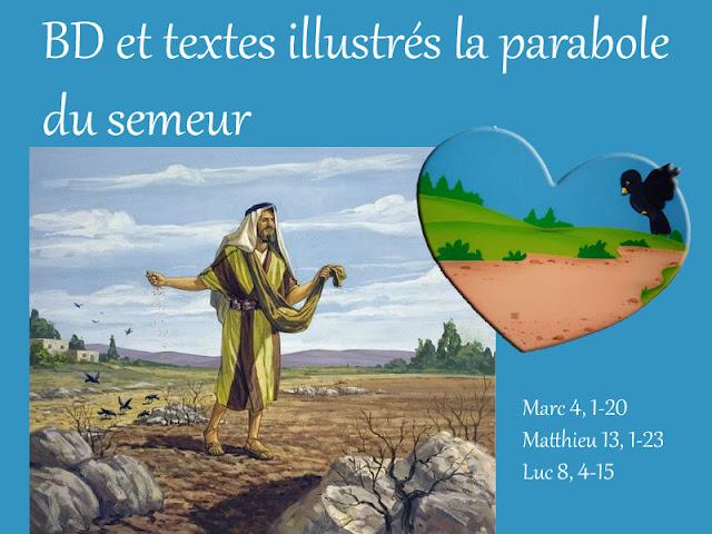 BD et textes illustrés sur la parabole du semeur