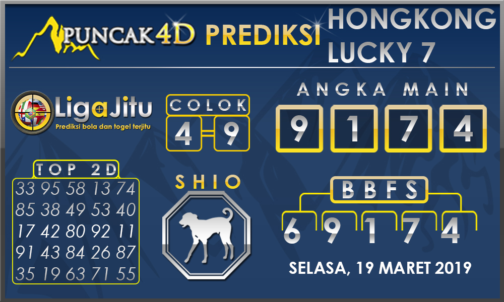 PREDIKSI TOGEL HONGKONG LUCKY7 PUNCAK4D 19 MARET 2019