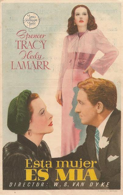 Programa de Cine - Esta Mujer es mía - Spencer Tracy - Hedy Lamarr