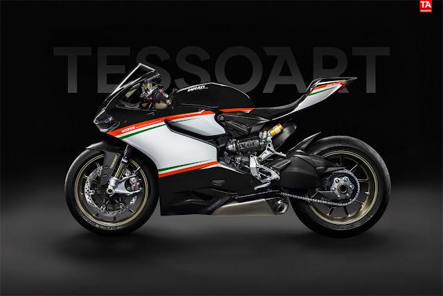 Ducati Superleggera 1199 Tricolore Nero Tessoart Yang Badass!!!