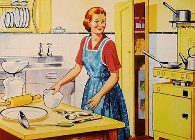Amas de casa que preparan comida y la llevan a casa