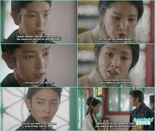 Queen yoo told wang so not to call her mother and in anger Wang soo scold hae soo not to come on every one call - Moon Lovers Scarlet Heart Ryeo - Episode 17 (Eng Sub)