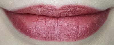 Avon True Colour Delicate Matte Lipstick lip swatch in Cherry Delight