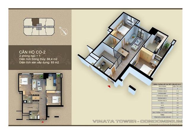 Thiết kế căn hộ 02 chung cư Vinata Towers