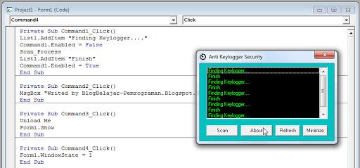 Apakah itu Simple Keylogger Blocker ?, Apakah Fungsi Simple Keylogger Blocker ?, Mengapa kami memberikan file source codenya, bukan file exe nya ?,  source code aplikasi, Download Source Coding Anti Keylogger vb6.