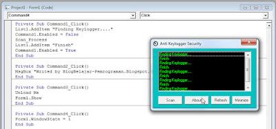 Apakah itu Simple Keylogger Blocker ?, Apakah Fungsi Simple Keylogger Blocker ?, Mengapa saya memberikan file source codenya, bukan file exe nya ?,  source code aplikasi, Download Source Coding Anti Keylogger vb6.