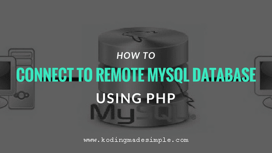 php connect to remote mysql database server