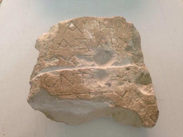 Greek dedicatory inscription discovered in Sicilian town
