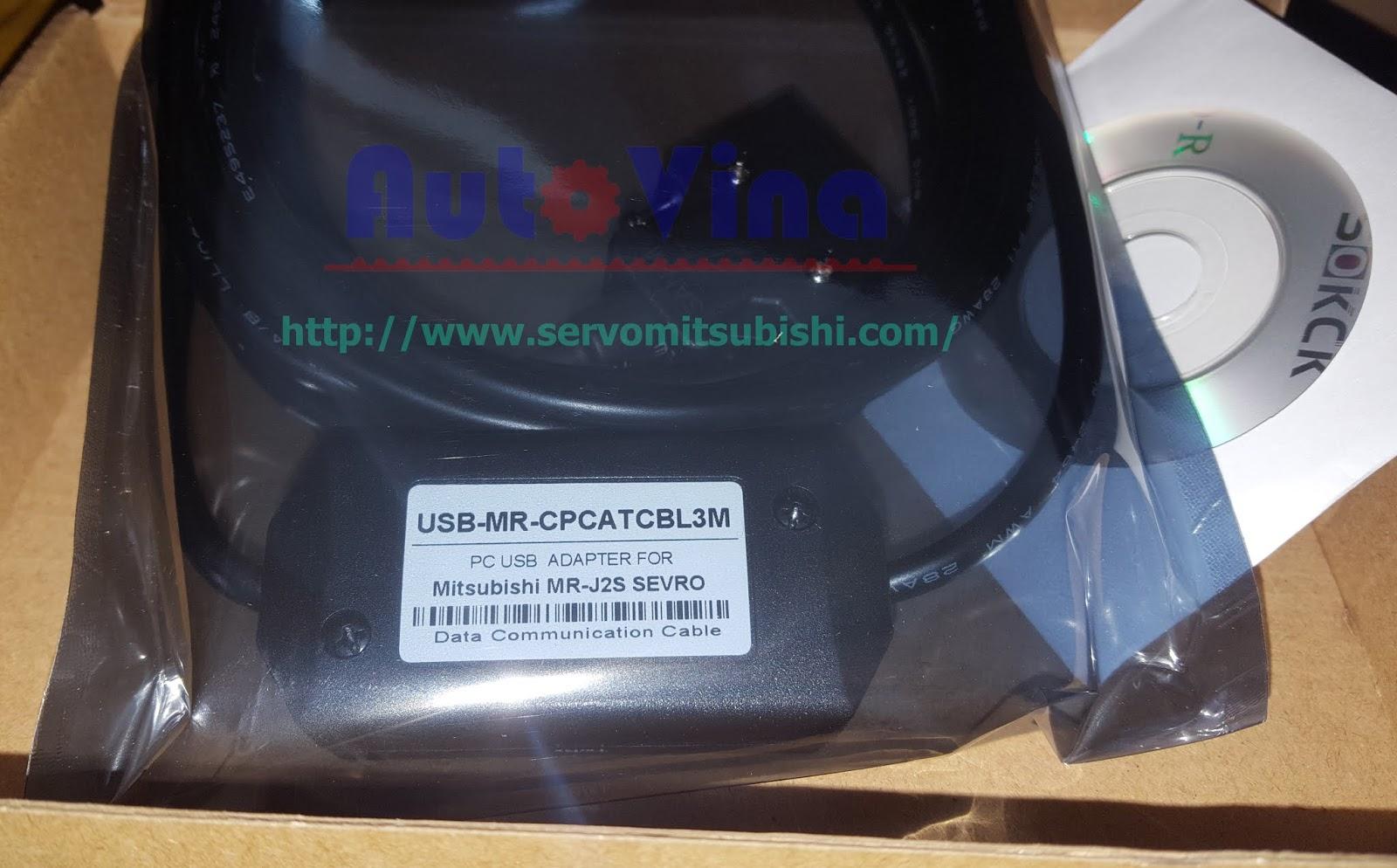 Đại lý bán USB-MR-CCATCBL3M cable kết nối Servo Mitsubishi MR-J2 và MR-J2S