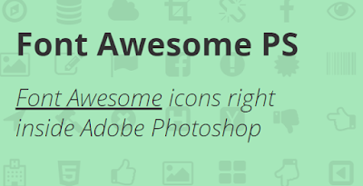 مكتبة Font Awesome PS للفوتوشوب - مدونة Blog4Prog