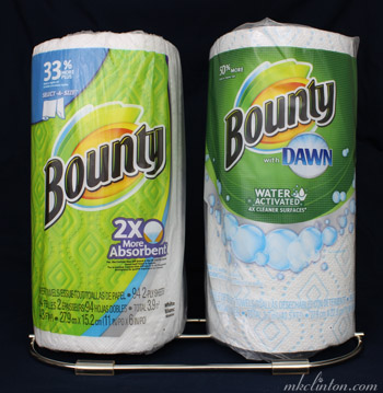 Bounty paper towel dual holder