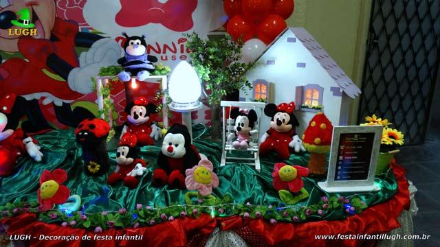 Decoração da Minnie luxo para festa de aniversário infantil