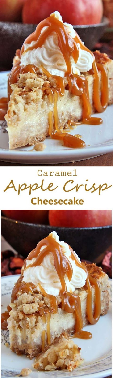 ★★★★☆ 7561 ratings   Caramel Apple Crisp Cheesecake #HEALTHYFOOD #EASYRECIPES #DINNER #LAUCH #DELICIOUS #EASY #HOLIDAYS #RECIPE #Caramel #Apple #Crisp #Cheesecake