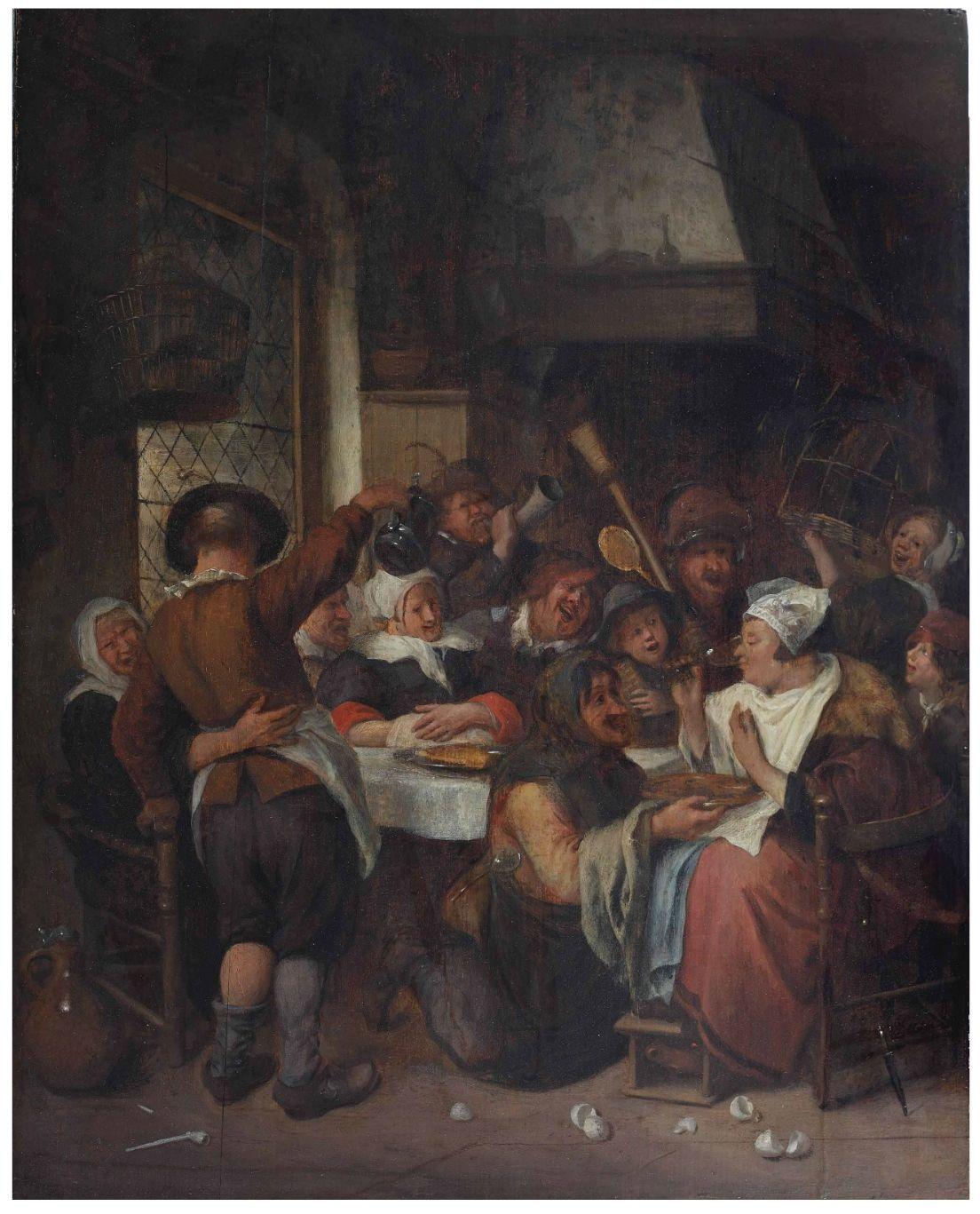 Ян Стен (1626-1679) - «Королевская пьянка»