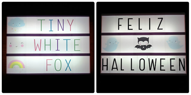 tiny white fox feliz halloween a little lovely company kawaii light box