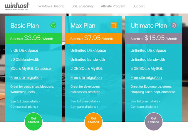 WinHost - ASP.NET Hosting Plan