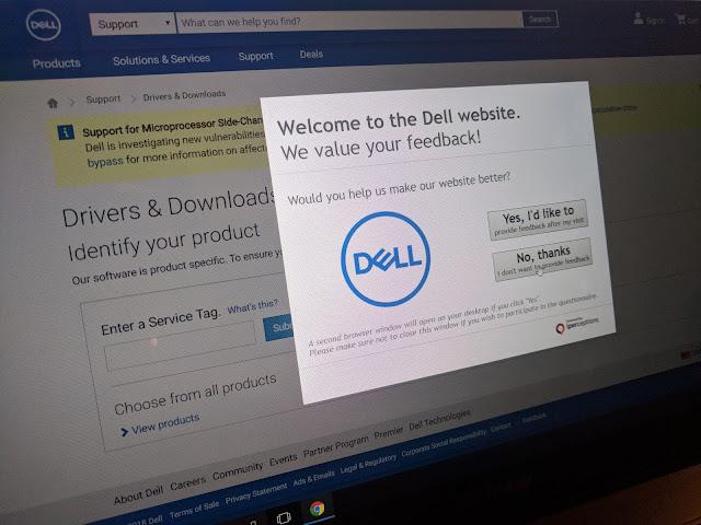 Página del fabricante de impresoras Dell