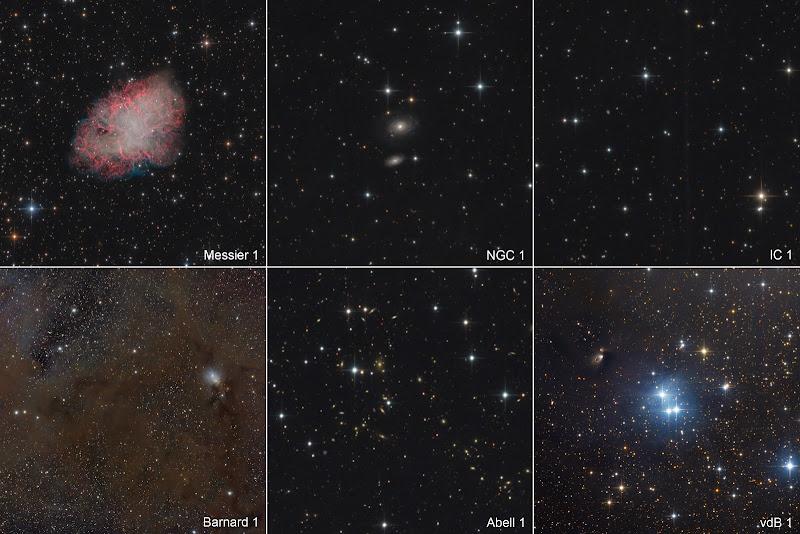 Những số 1 của các danh mục thiên thể. Hình ảnh: Bernhard Hubl (CEDIC).