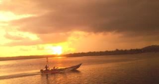 Senja Pantai Bojong Salawe Pangandaran