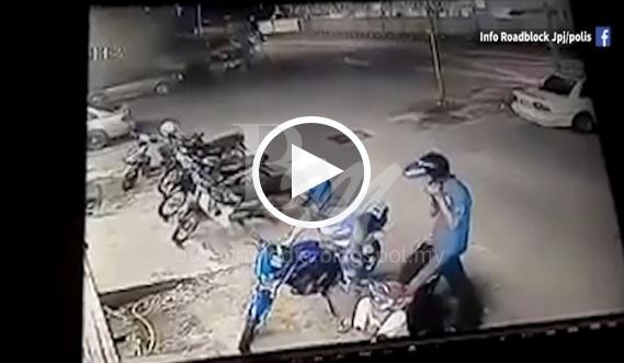[VIDEO] Ngeri.. Mekanik Parah Ditetak 4 Lelaki Bersenjatakan Parang !
