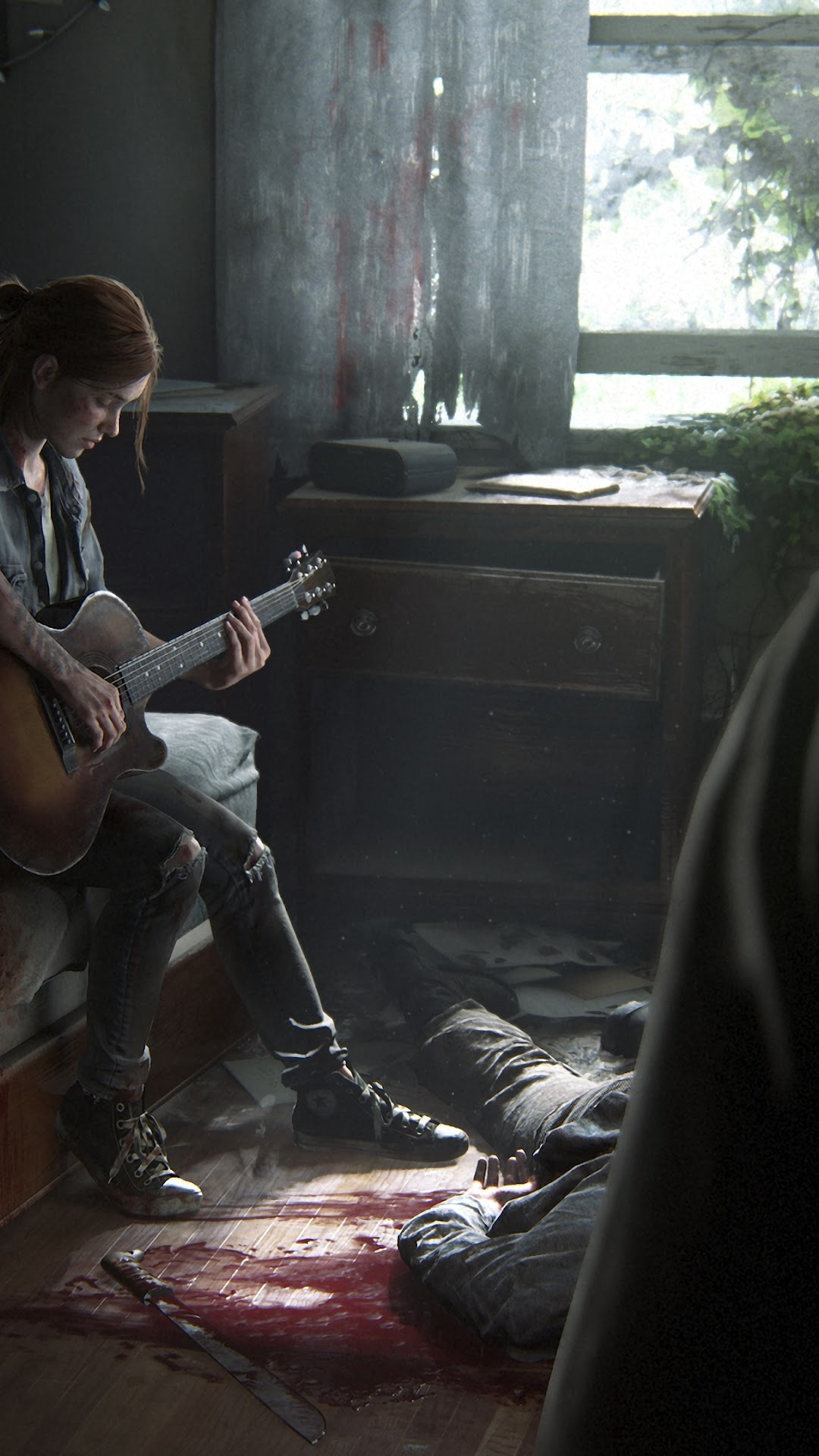 The Last Of Us Part 2 Ellie Playing Guitar 4k Wallpaper 7